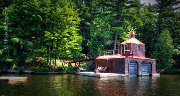 Unusual Boathouse On Lake Rosseau Muskoka Blog