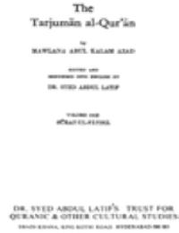 THE TARJUMAN AL-QUR'AN V1