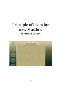 Principle of Islam for new Muslims