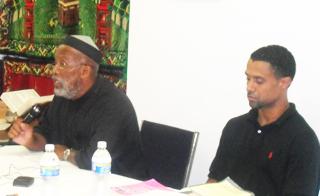 Rauf & Musa teaching the youth