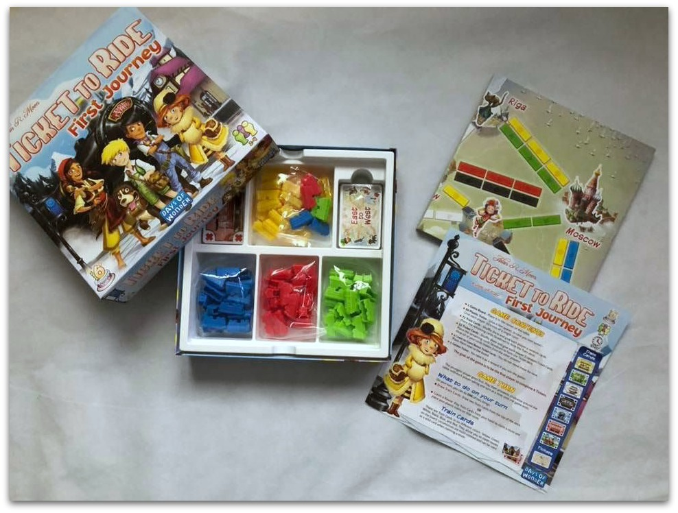 Ticket to Ride box contents