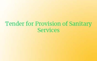 Tender for Provision of Sanitary Services