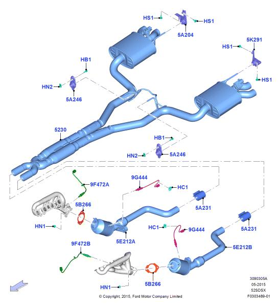 gt350 r exhaust system 2015 s550