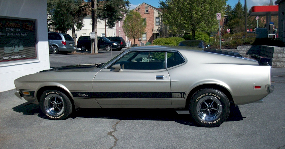 Bf goodrich radial t/a tires. Light Pewter Silver 1973 Mach 1 Ford Mustang Fastback Mustangattitude Com Mobile