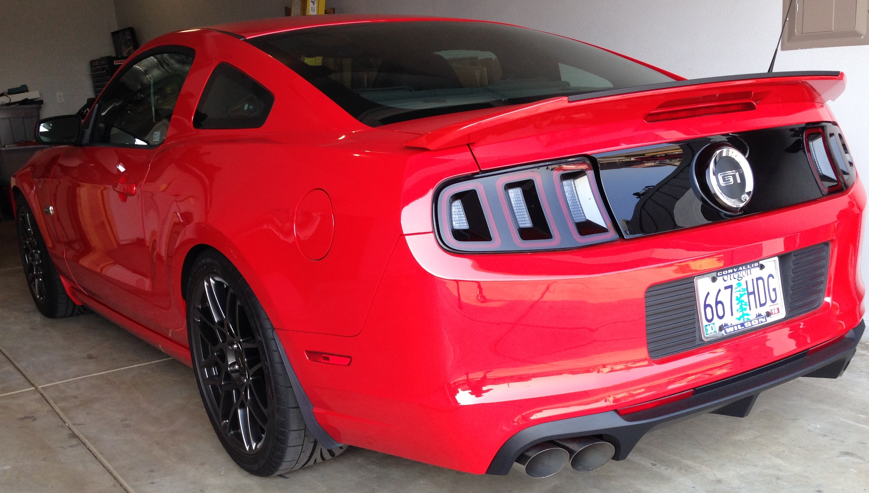 roush axle back with quad tips