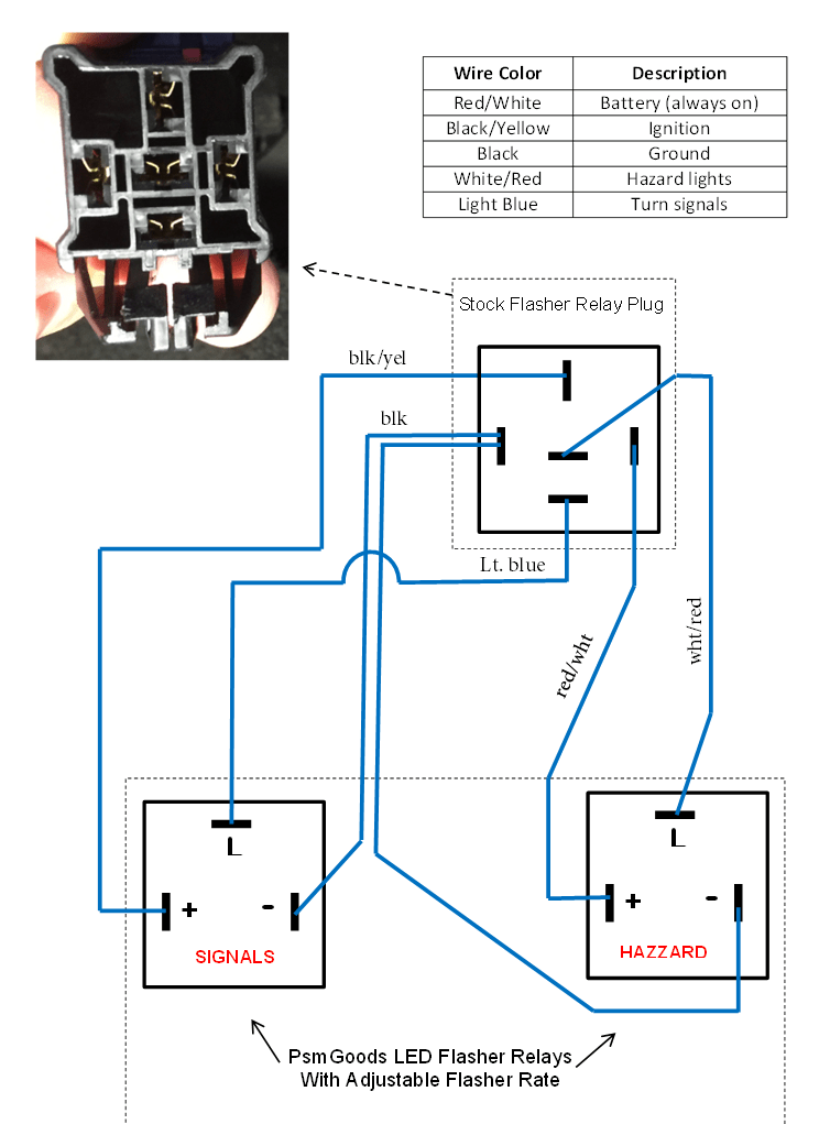 6 pin flasher relay wiring diagram wiring diagram 12v Flasher Relay Wiring Diagram for electronic flasher led turn signal wiring diagram on 12v flasher relay wiring diagram