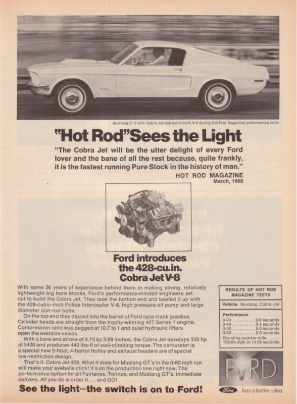 Broszura reklamująca wersję Cobra Jet