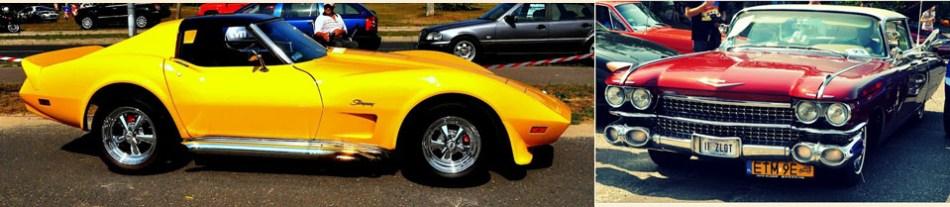 Piękna żółta Corvette z Łodzi oraz wzbudzający podziw Cadillac deVille