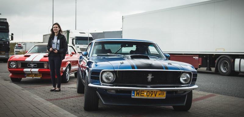 Ten piękny Mustang czekał nazwycięsce wWarszawie