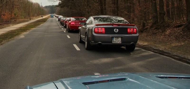 Jedzie znami jakis Mustang