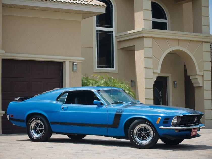 Blue 1970 Boss 302