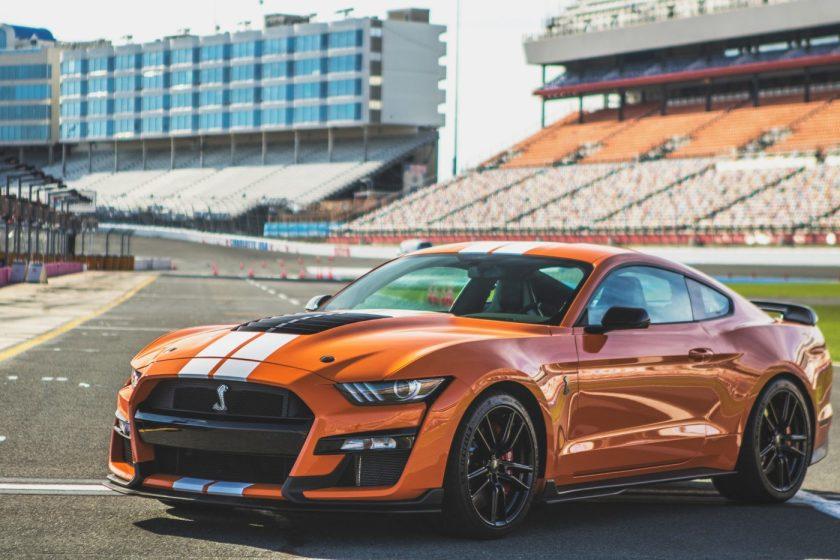 Orange 2021 Ford Mustang GT500