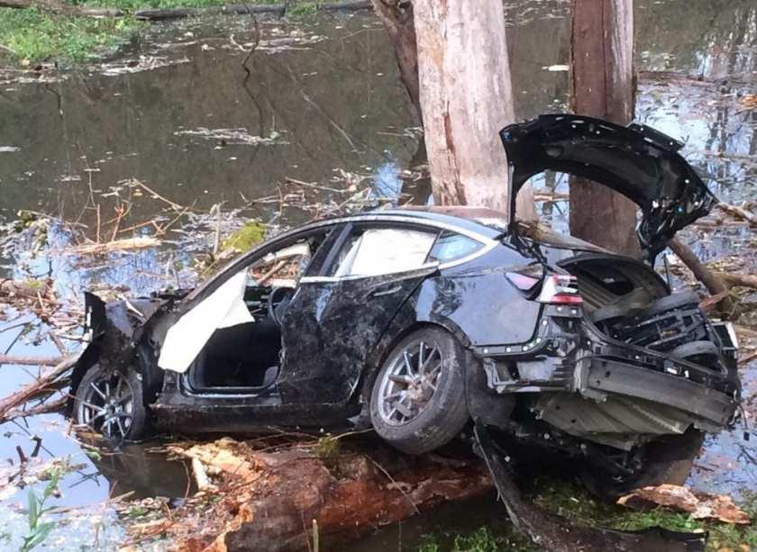 2018 Tesla after drunk driver accident