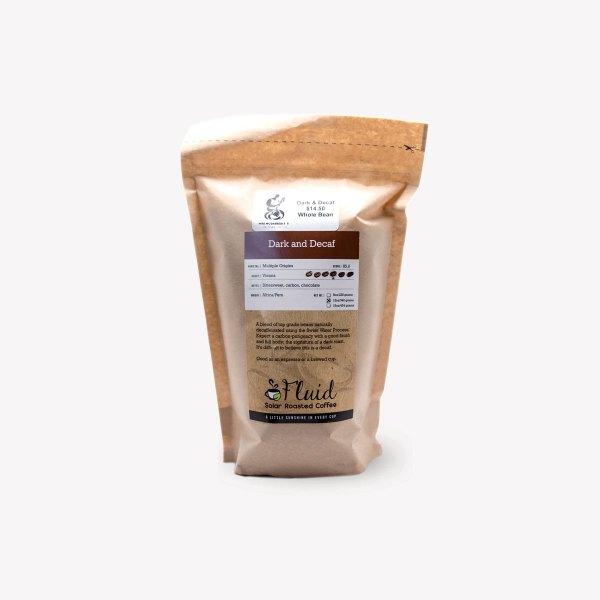 Fluid Solar Roasted Coffee Dark and Decaf Coffee