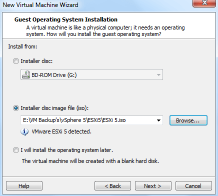Installing vSphere in VMware Workstation