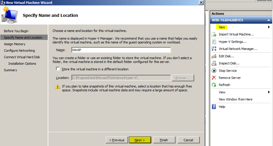 how to create a virtual san in hyper v