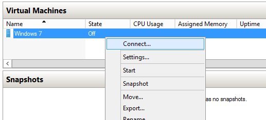 Connect VM