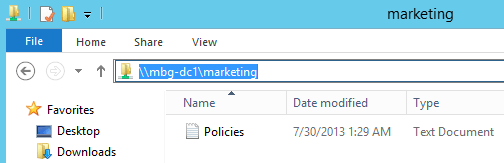 Accessing Shared Folder