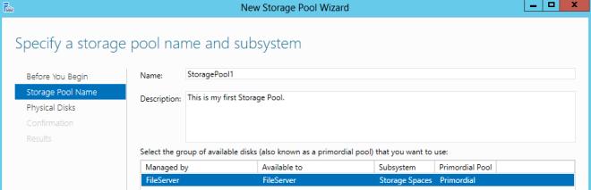Storage Pool Name