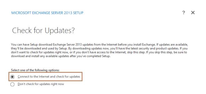 Install Exchange Server 2013 in Windows Server 2012