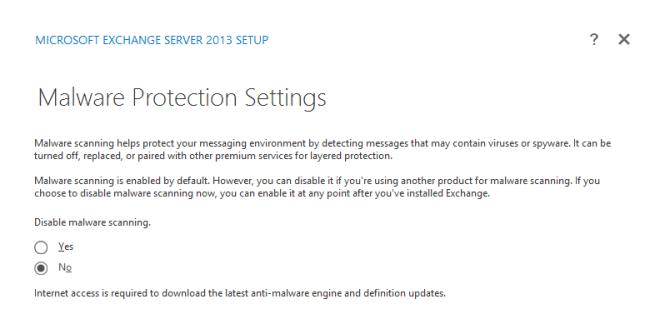 Malware Settings