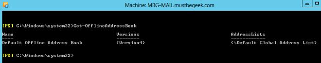 Configure Offline Address Book in Exchange 2013