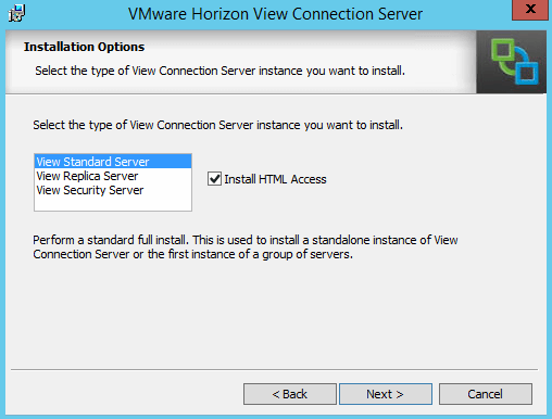 Choose Standard View Connection