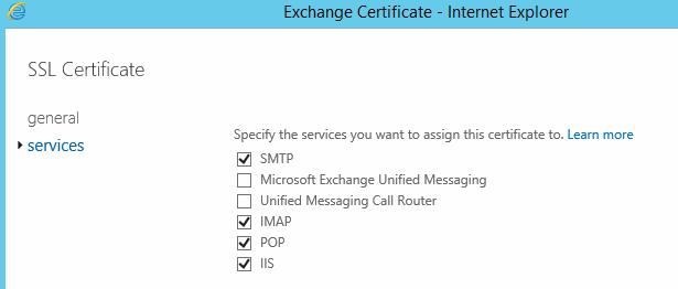 Install SSL Certificate in Exchange 2016