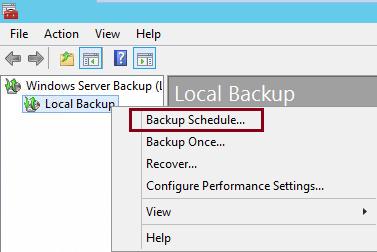 create backup schedule