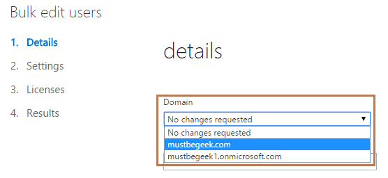 Change Domain Name of Multiple Users in Office 365