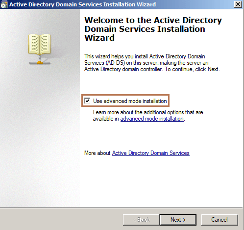 AD DS Wizard