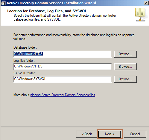 Database and Log files