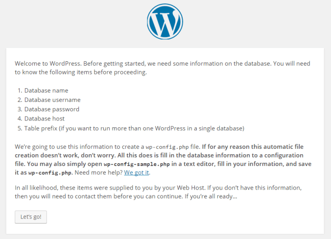 Install WordPress in Hosted Environment