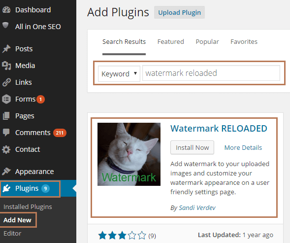 Setup Watermark Reloaded Plugin in WordPress