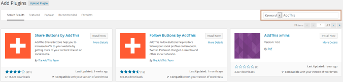 Add Social Sharing Buttons with AddThis Plugin in WordPress