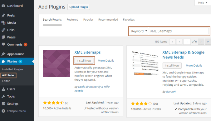 Generate XML Sitemaps using XML Sitemaps Plugin in WordPress