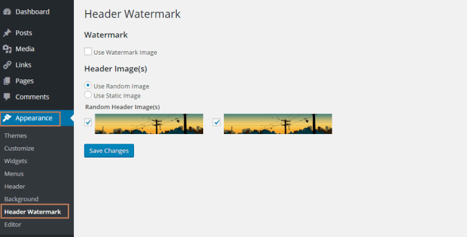Watermark Images with Header Watermark Plugin in WordPress