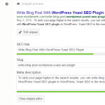 Write Blog Post With WordPress Yoast SEO Plugin