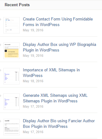 Show Related Posts in WordPress Using Recent Posts Widget Extended Plugin