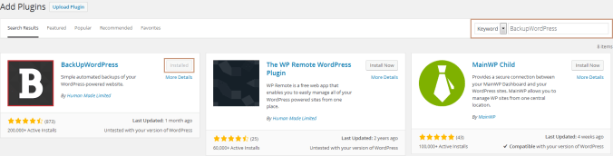 Backup Your WordPress Site with BackUpWordPress Plugin