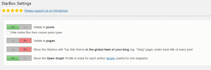 Add Author Box using Starbox Plugin in WordPress