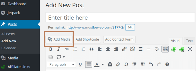 Step by step guide: add images to posts and pages in wordpress