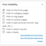 How to Hide a Post from Home Page in WordPress