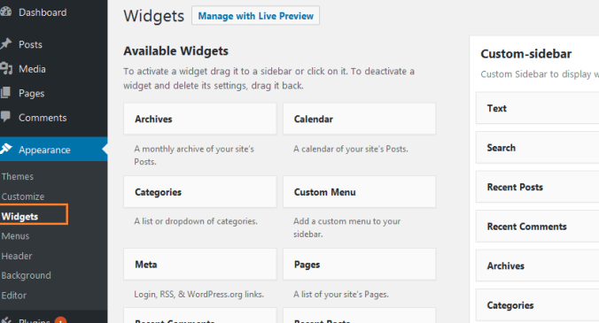 How to Add and Use WordPress Widgets