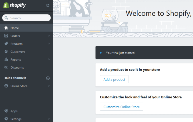 dashboard-shopify How to Start eCommerce With Shopify in WordPress