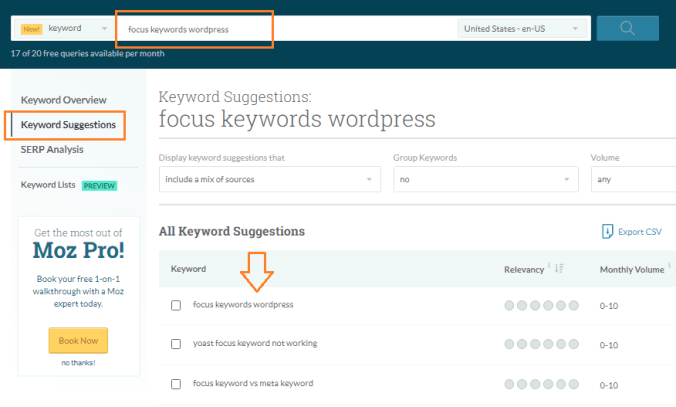 moz explorer - Best Tools to Create Keywords List