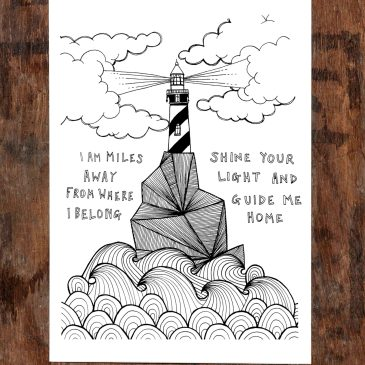 Lighthouse – A5 Unframed Print