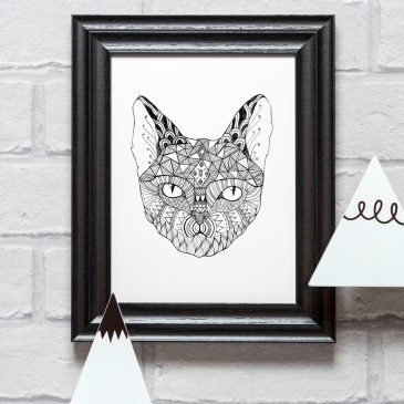 Cat – A5 Unframed Print