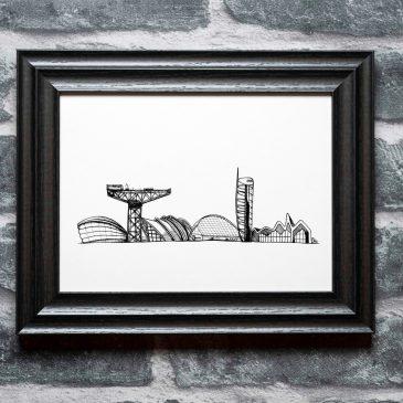 Glasgow Riverfront – A4 Unframed Print