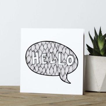 Hello – Greetings Card